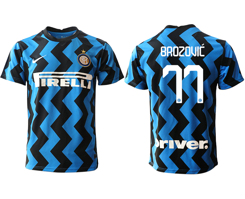 Cheap Men 2020-2021 club Inter Milan home aaa versio 77 blue Soccer Jerseys