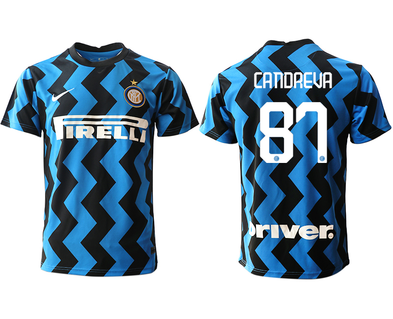 Cheap Men 2020-2021 club Inter Milan home aaa versio 87 blue Soccer Jerseys