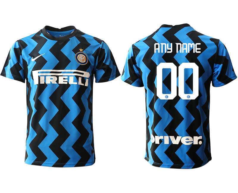 Wholesale Men 2020-2021 club Inter Milan home aaa versio customized blue Soccer Jerseys