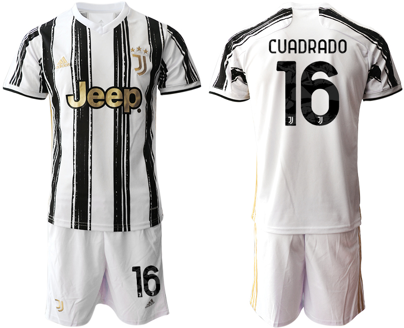 Men 2020-2021 club Juventus home 16 white black Soccer Jerseys