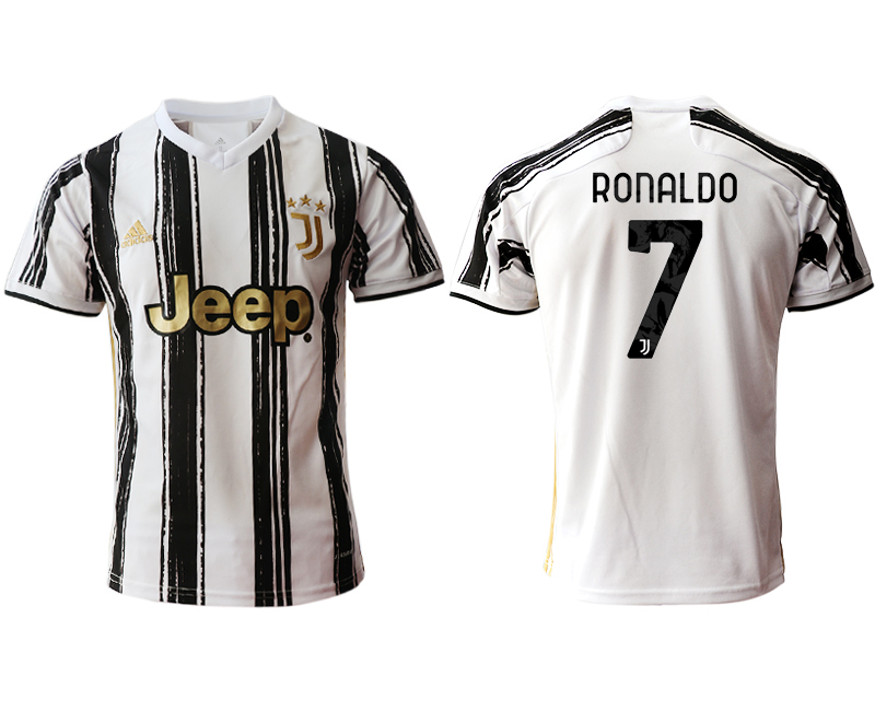 Men 2020-2021 club Juventus home aaa version 7 white Soccer Jerseys