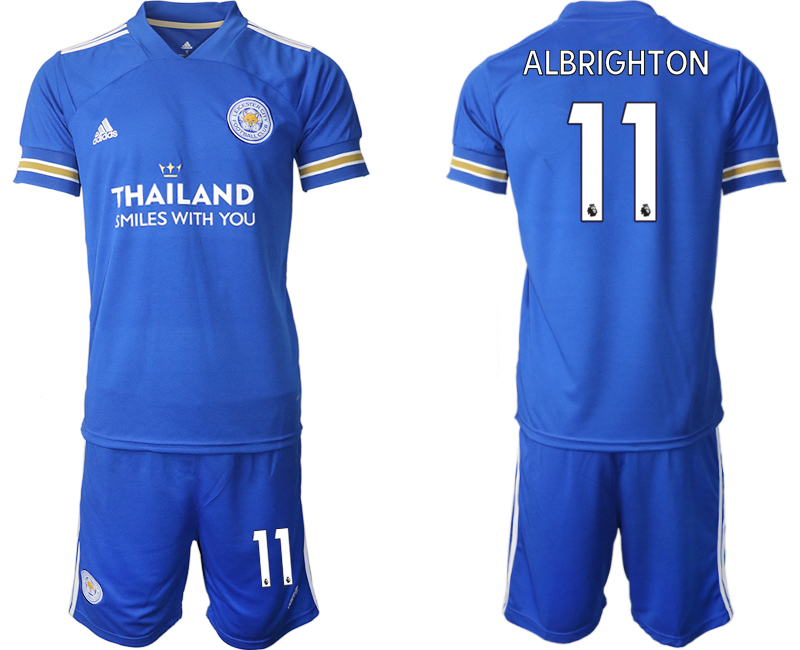 Wholesale Men 2020-2021 club Leicester City home 11 blue Soccer Jerseys