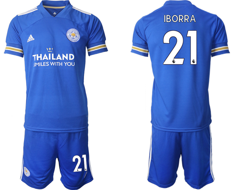 Cheap Men 2020-2021 club Leicester City home 21 blue ...