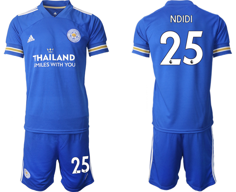 Wholesale Men 2020-2021 club Leicester City home 25 blue Soccer Jerseys