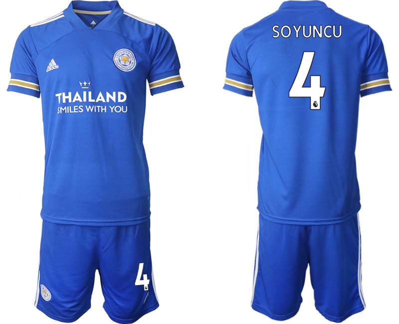 Wholesale Men 2020-2021 club Leicester City home 4 blue Soccer Jerseys