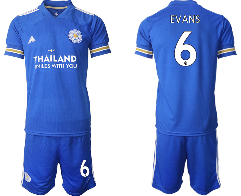 Wholesale Men 2020-2021 club Leicester City home 6 blue Soccer Jerseys