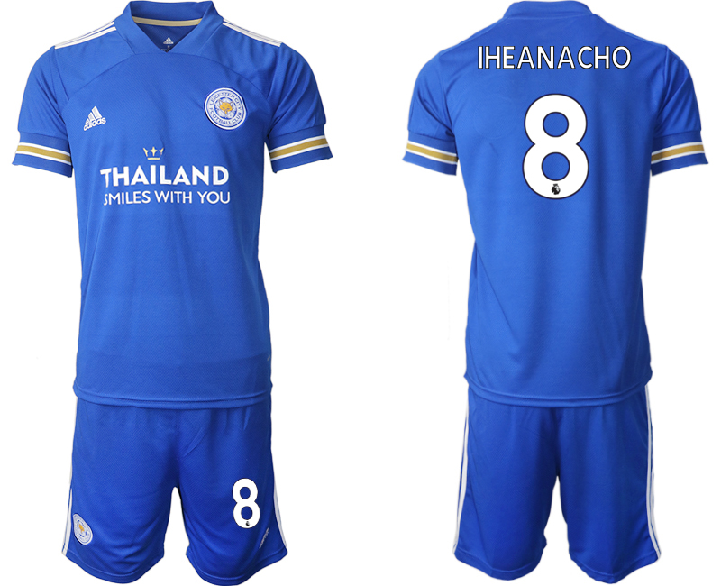Wholesale Men 2020-2021 club Leicester City home 8 blue Soccer Jerseys