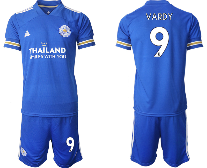 Wholesale Men 2020-2021 club Leicester City home 9 blue Soccer Jerseys