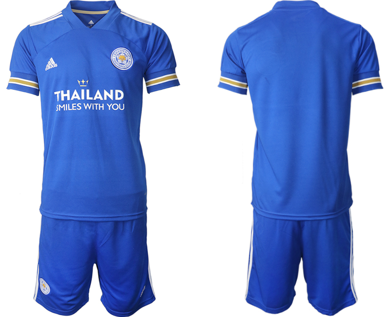 Wholesale Men 2020-2021 club Leicester City home blank blue Soccer Jerseys