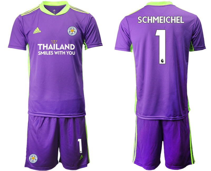 Wholesale Men 2020-2021 club Leicester City purple goalkeeper 1 Soccer Jerseys