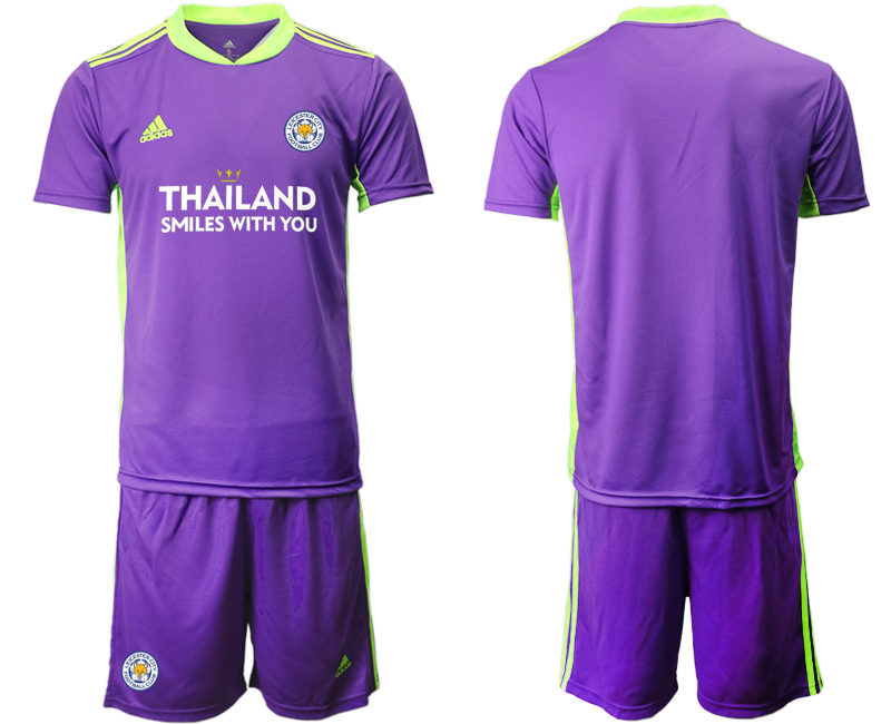 Wholesale Men 2020-2021 club Leicester City purple goalkeeper Soccer Jerseys