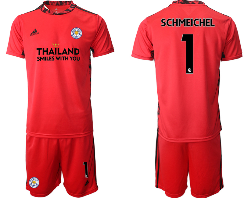 Wholesale Men 2020-2021 club Leicester City red goalkeeper 1 Soccer Jerseys