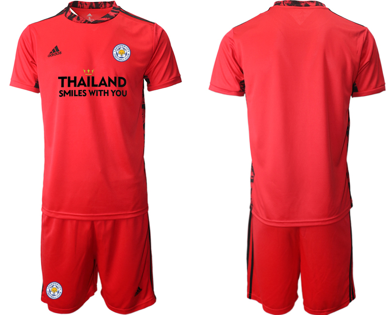 Wholesale Men 2020-2021 club Leicester City red goalkeeper Soccer Jerseys