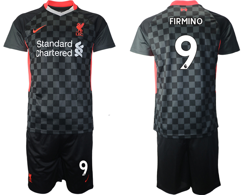 Wholesale Men 2020-2021 club Liverpool Second away 9 black Soccer Jerseys