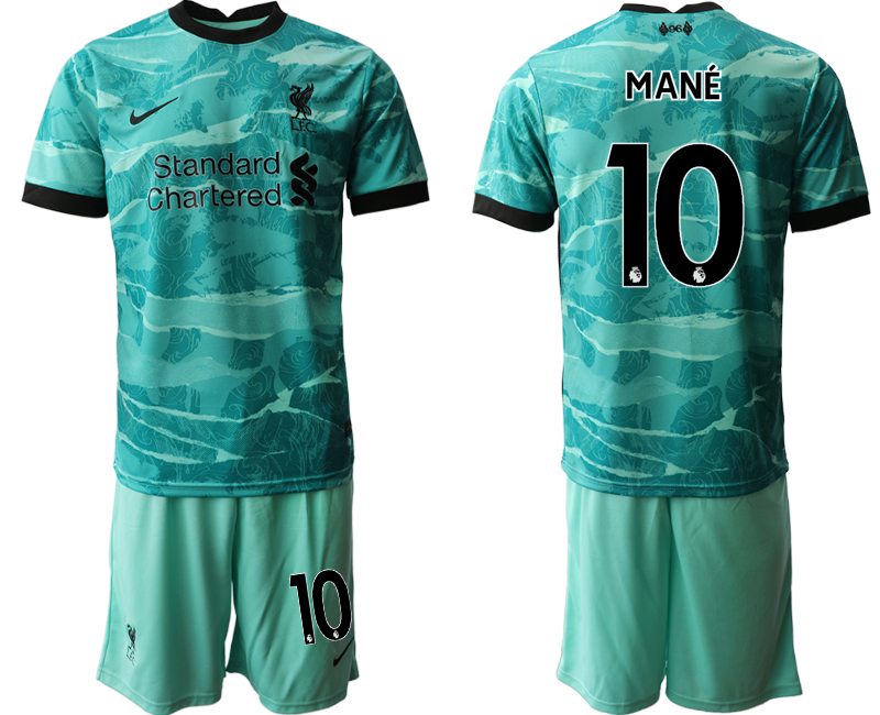 Men 2020-2021 club Liverpool away 10 green Soccer Jerseys