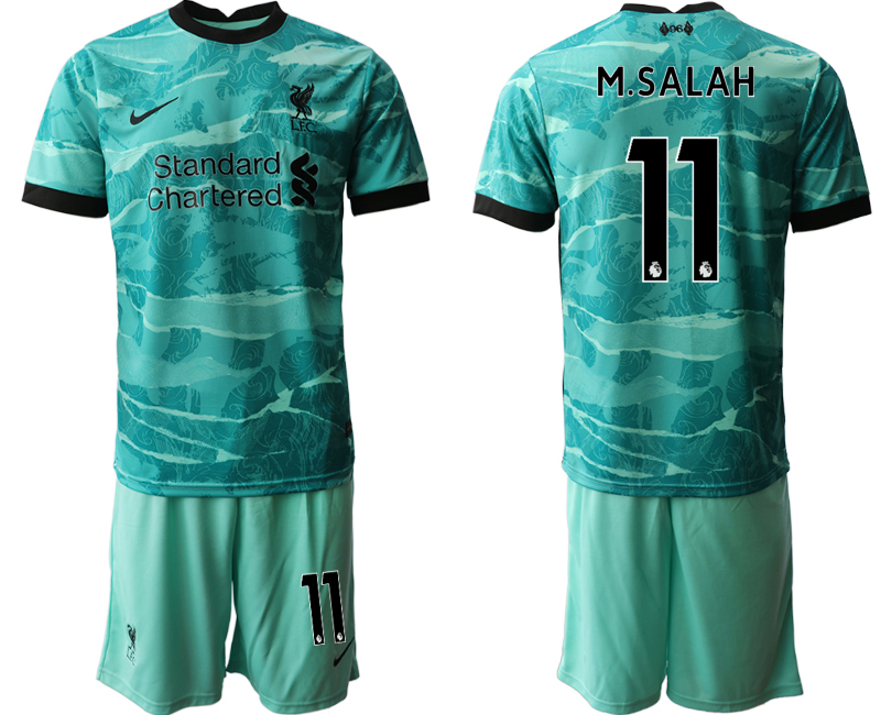 Men 2020-2021 club Liverpool away 11 green Soccer Jerseys