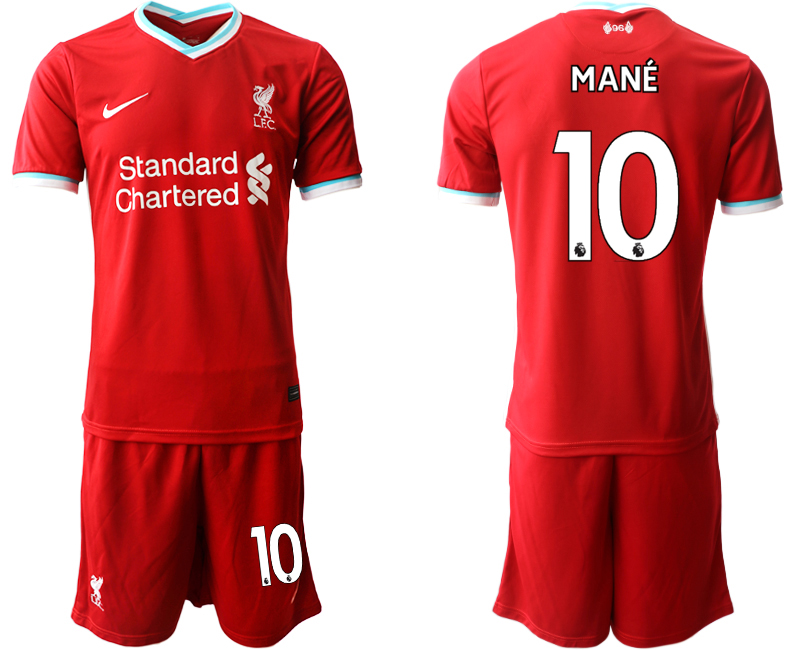 Men 2020-2021 club Liverpool home 10 red Soccer Jerseys