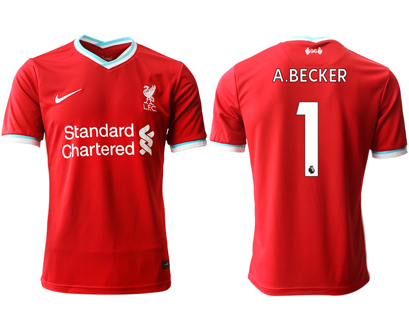 Wholesale Men 2020-2021 club Liverpool home aaa version 1 red Soccer Jerseys