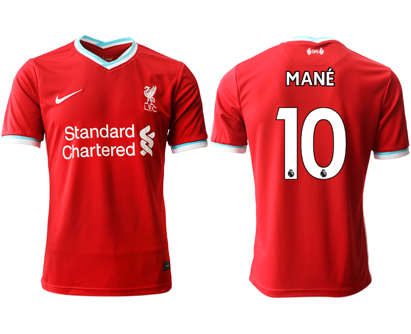 Wholesale Men 2020-2021 club Liverpool home aaa version 10 red Soccer Jerseys
