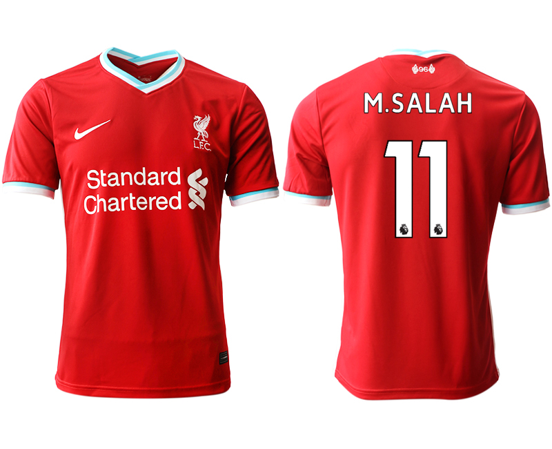 Wholesale Men 2020-2021 club Liverpool home aaa version 11 red Soccer Jerseys