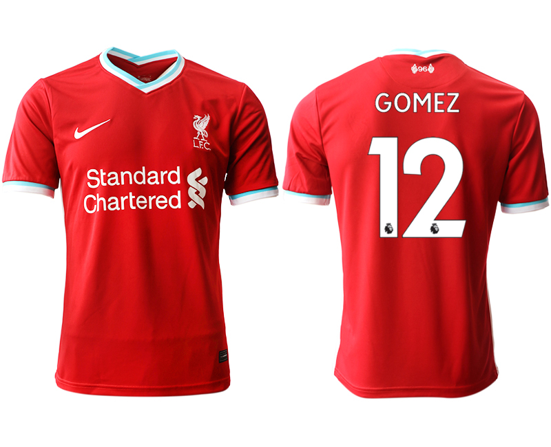 Wholesale Men 2020-2021 club Liverpool home aaa version 12 red Soccer Jerseys