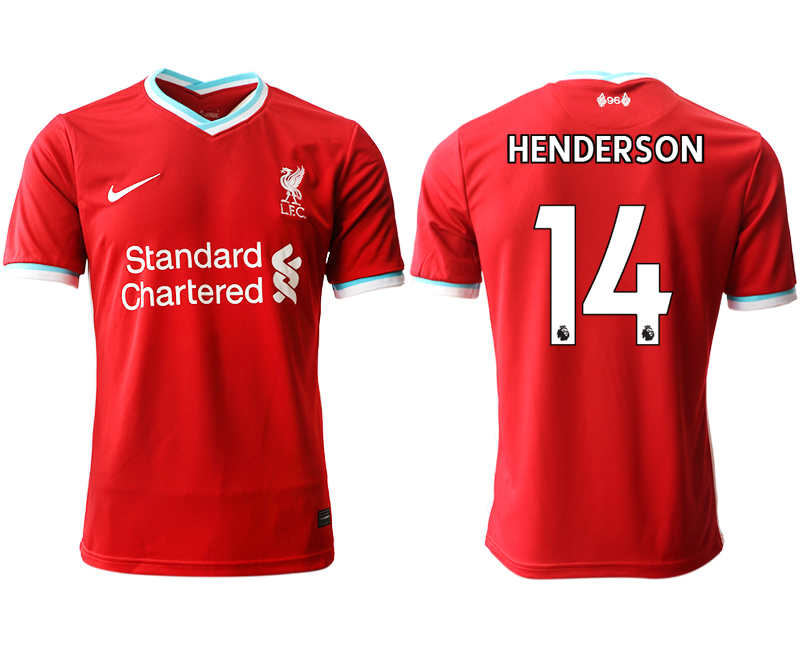 Wholesale Men 2020-2021 club Liverpool home aaa version 14 red Soccer Jerseys