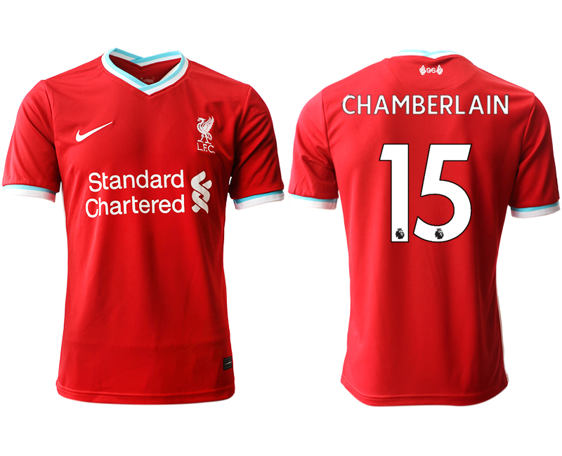 Wholesale Men 2020-2021 club Liverpool home aaa version 15 red Soccer Jerseys
