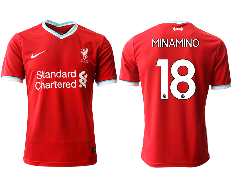 Wholesale Men 2020-2021 club Liverpool home aaa version 18 red Soccer Jerseys