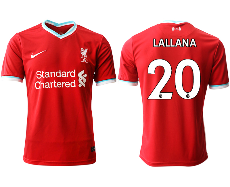 Wholesale Men 2020-2021 club Liverpool home aaa version 20 red Soccer Jerseys