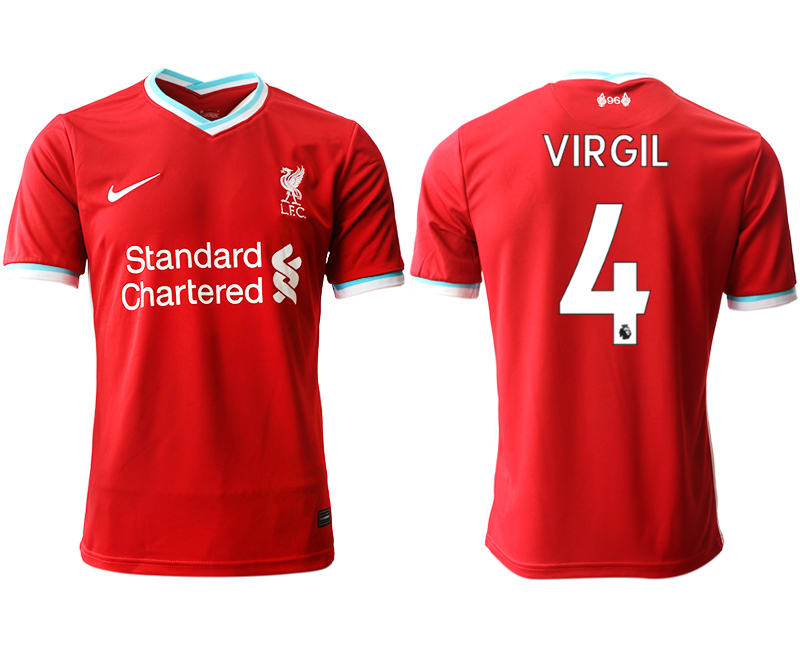 Wholesale Men 2020-2021 club Liverpool home aaa version 4 red Soccer Jerseys