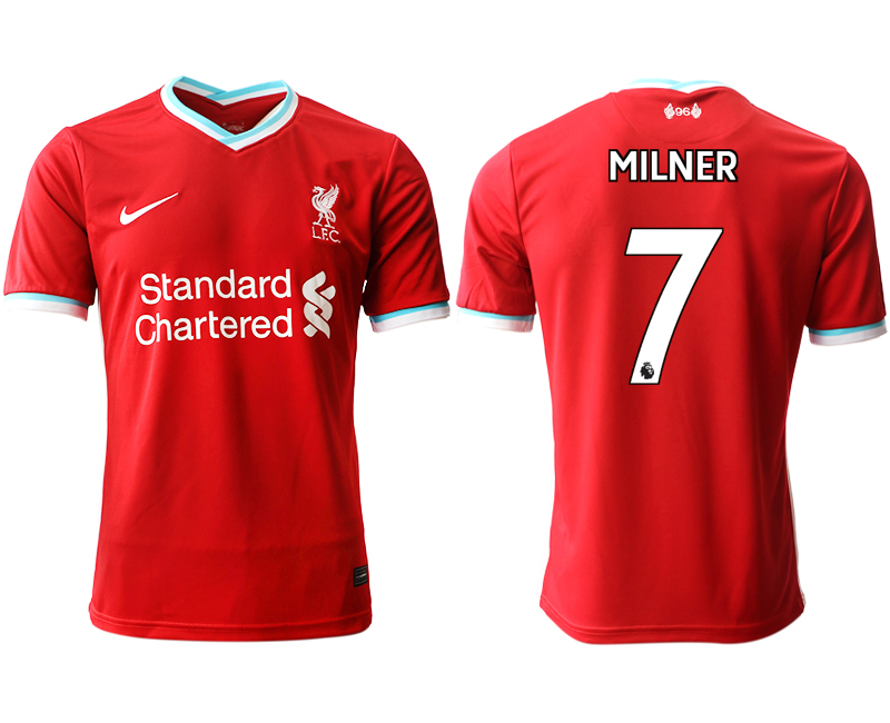 Men 2020-2021 club Liverpool home aaa version 7 red Soccer Jerseys