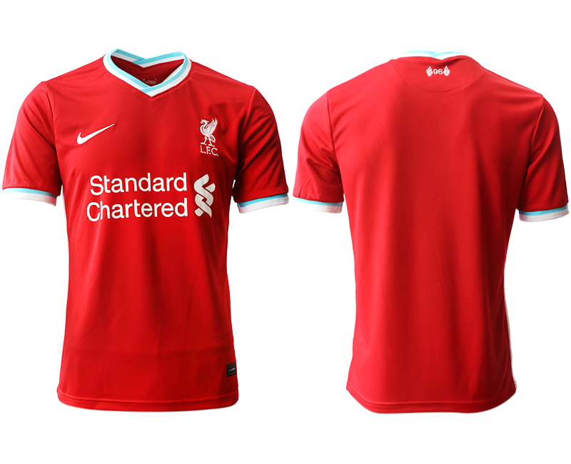 Wholesale Men 2020-2021 club Liverpool home aaa version blank red Soccer Jerseys