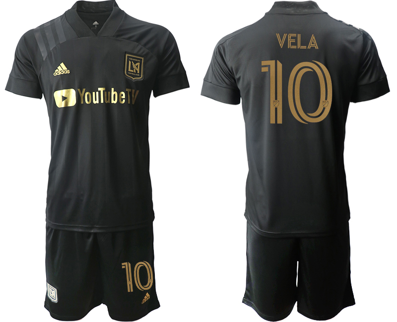 Cheap Men 2020-2021 club Los Angeles FC home 10 black Soccer Jerseys
