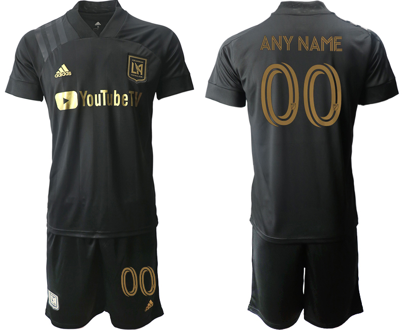 Cheap Men 2020-2021 club Los Angeles FC home customized black Soccer Jerseys