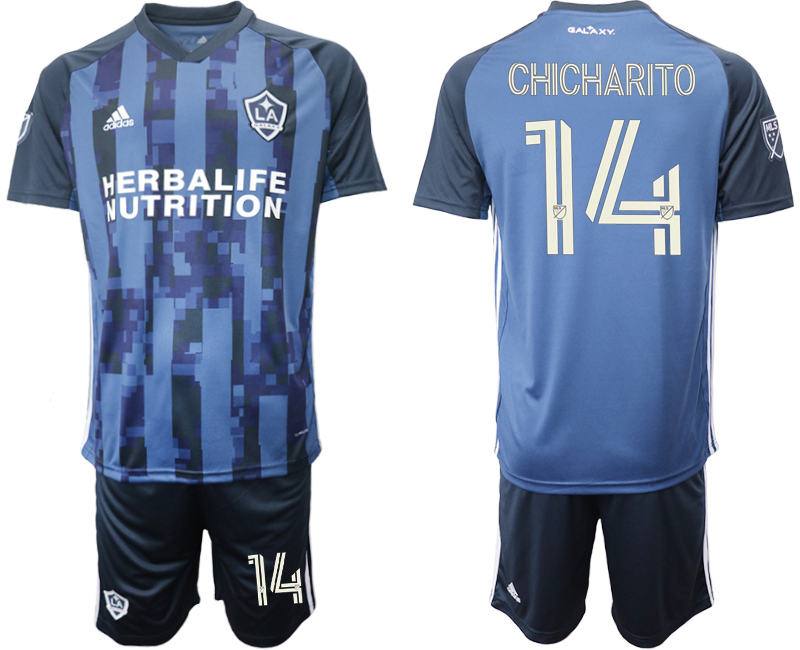 Cheap Men 2020-2021 club Los Angeles Galaxy away 14 blue Soccer Jerseys