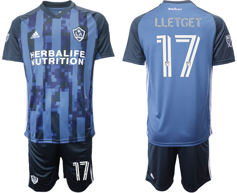 Cheap Men 2020-2021 club Los Angeles Galaxy away 17 blue Soccer Jerseys
