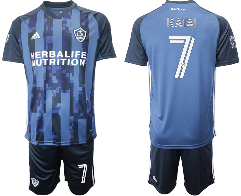 Cheap Men 2020-2021 club Los Angeles Galaxy away 7 blue Soccer Jerseys