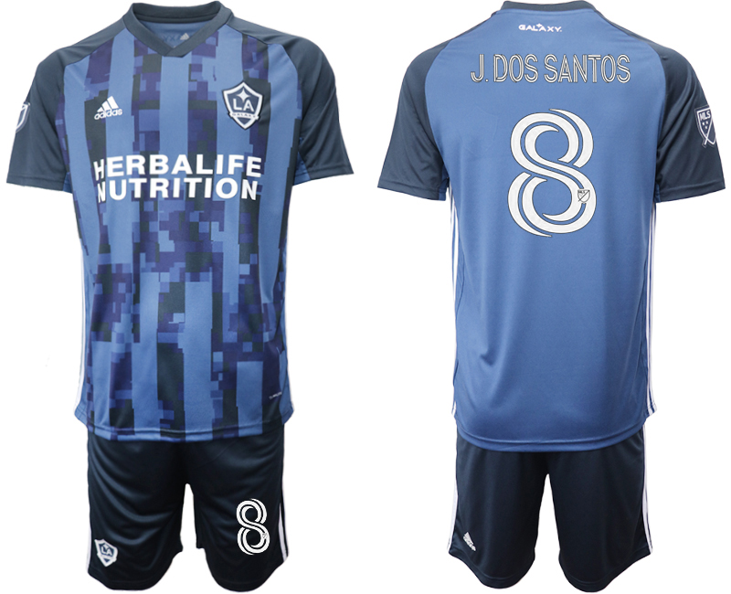 Cheap Men 2020-2021 club Los Angeles Galaxy away 8 blue Soccer Jerseys