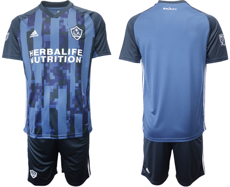 Cheap Men 2020-2021 club Los Angeles Galaxy away blank blue Soccer Jerseys