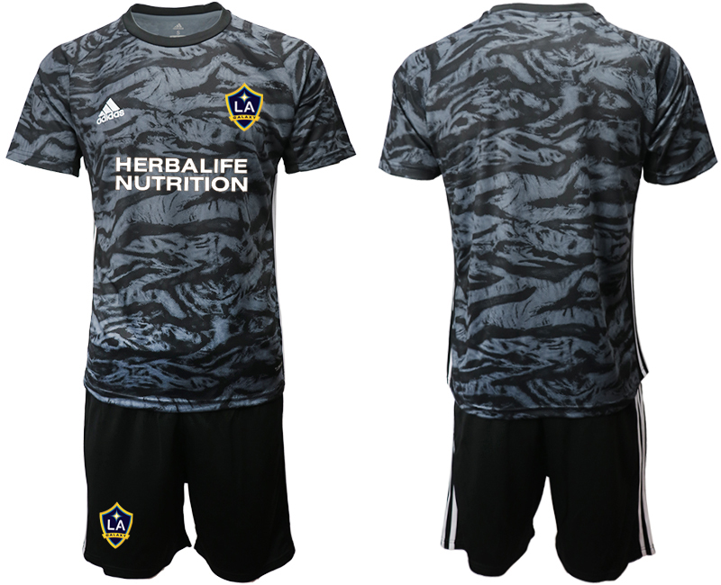 Cheap Men 2020-2021 club Los Angeles Galaxy goalkeeper black Soccer Jerseys