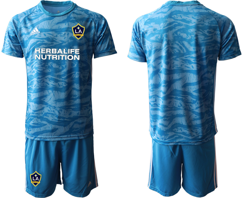Cheap Men 2020-2021 club Los Angeles Galaxy goalkeeper blue Soccer Jerseys