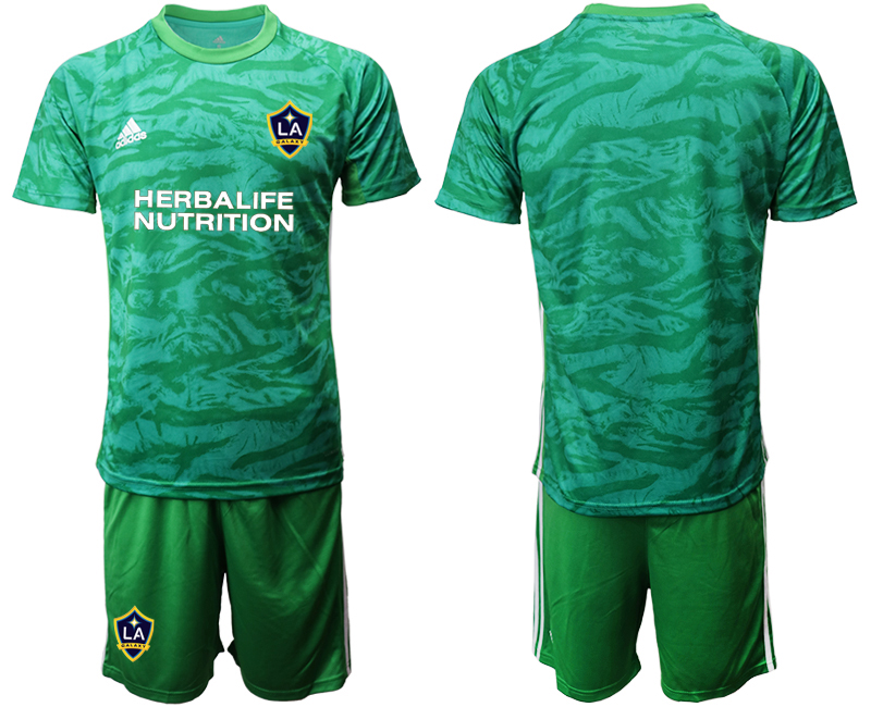 Cheap Men 2020-2021 club Los Angeles Galaxy goalkeeper green Soccer Jerseys