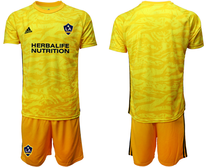 Cheap Men 2020-2021 club Los Angeles Galaxy goalkeeper yellow Soccer Jerseys