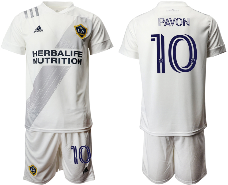 Cheap Men 2020-2021 club Los Angeles Galaxy home 10 white Soccer Jerseys