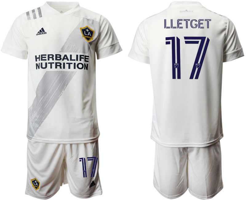 Cheap Men 2020-2021 club Los Angeles Galaxy home 17 white Soccer Jerseys