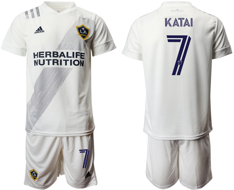 Cheap Men 2020-2021 club Los Angeles Galaxy home 7 white Soccer Jerseys