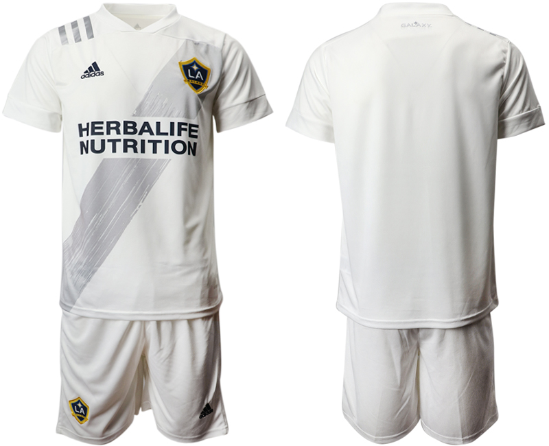 Cheap Men 2020-2021 club Los Angeles Galaxy home blank white Soccer Jerseys