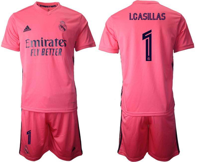 Wholesale Men 2020-2021 club Real Madrid away 1 pink Soccer Jerseys
