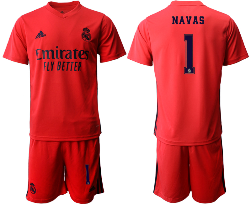 Wholesale Men 2020-2021 club Real Madrid away 1 red Soccer Jerseys