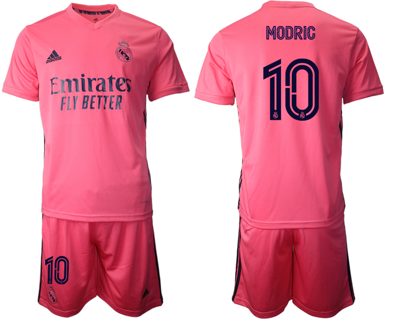 Wholesale Men 2020-2021 club Real Madrid away 10 pink Soccer Jerseys